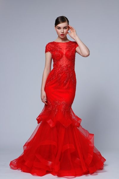 čerevné luxusné šaty - zimný typ
