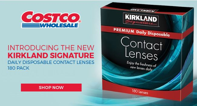 Introducing the New KIRKLAND SIGNATURE - Daily disposable contact lenses 180 Pack
