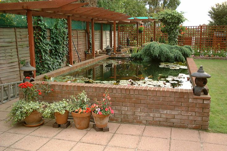 How to make an above ground koi pond google search koi for Garden pond design and construction