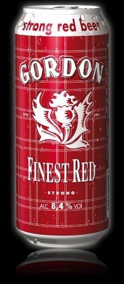 Cerveja Gordon Finest Red, estilo American Amber Ale, produzida por John Martin…