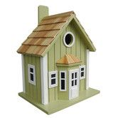 Found it at Wayfair - Home Bazaar Fledgling Series Parkside Cottage Mounted Birdhouse