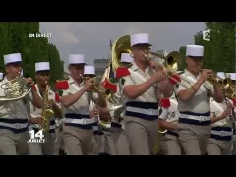 Defile du 14 juillet 2011 Legion etrangere - Foreign legion  Parade July...