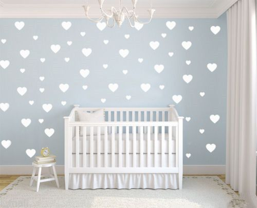 Cheap wall sticker, Buy Quality removable wall stickers directly from China stickers for Suppliers: 59pcs LOVE HEARTS removable wall stickers for Nursery or kids room adesivo de parede Mural Wallpaper Princess Girl Lovers J495