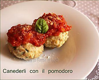 Canederli al sugo di pomodoro, ricetta Alto Adige