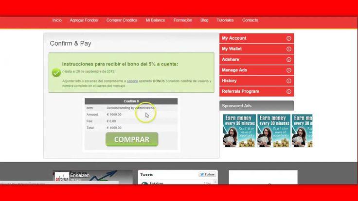 Agregar fondos en Enkaizen con tarjeta o deposito bancario