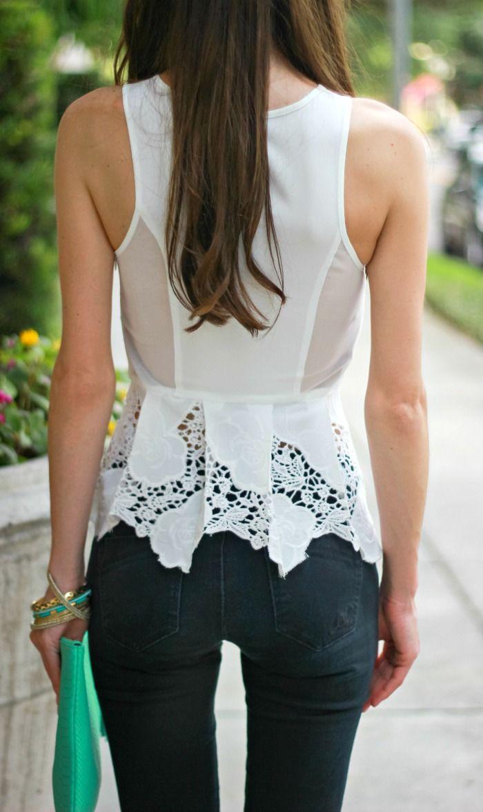 Gorgeous white peplum detail