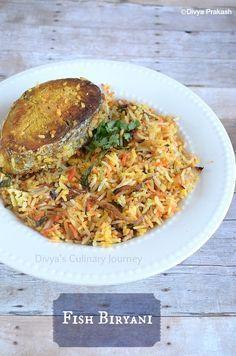 Divya's culinary journey: Fish Biryani Recipe | Fish Dum Biryani | Meen Biryani | Machli ki Biryani - (Fish biryani prepared using dum method)