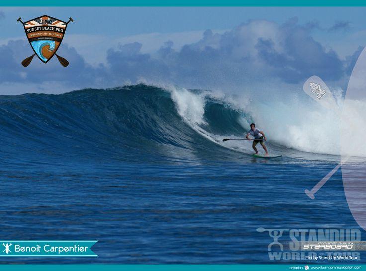 Benoit Carpentier (France) a fait mercredi 12 février le meilleur score du Stand Up World Tour à Hawaii et se qualifie direct au 3è tour !  Cette année, Benoit va avoir 18 ans, et il compte bien maintenir son rang dans le haut niveau mondial et vise le top ten ! IKEN Communication Support Benoit Carpentier ≈≈∆∆≈≈ #SUP #Standuppaddle #standup #hawaii #oahu #sunsetbeach #turtlebay #prosurfer #starboard #ikencommunication #france #bretagne #SUWT #standUpWorldTour