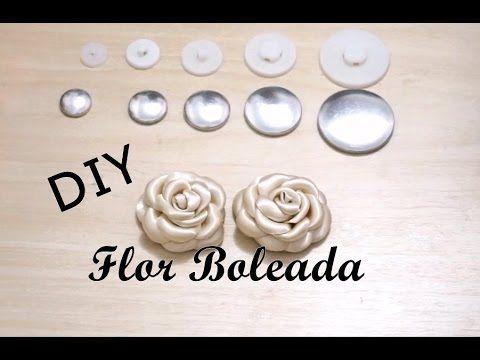 DIY - Flor Boleada - Botão de Rosa / Rosebud , Flower , molded , rounded…