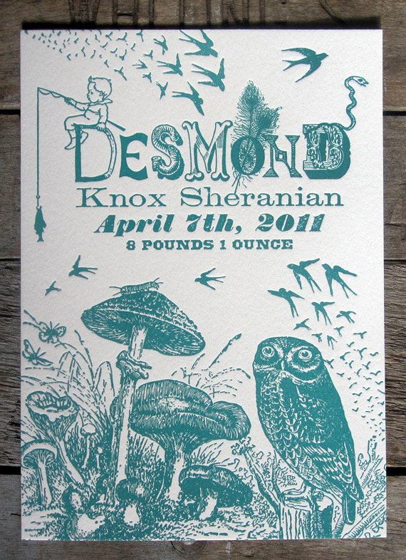 Birth announcements Births and Letterpresses – Printed Birth Announcements