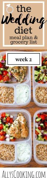 The Wedding Diet Meal Plan: Week 2 via @Ally's Cooking