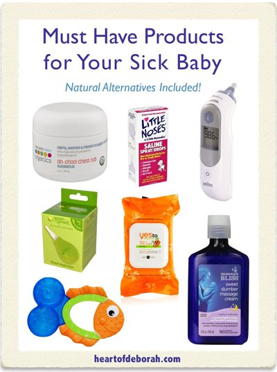 7 Natural Products for Your Sick Baby or Toddler