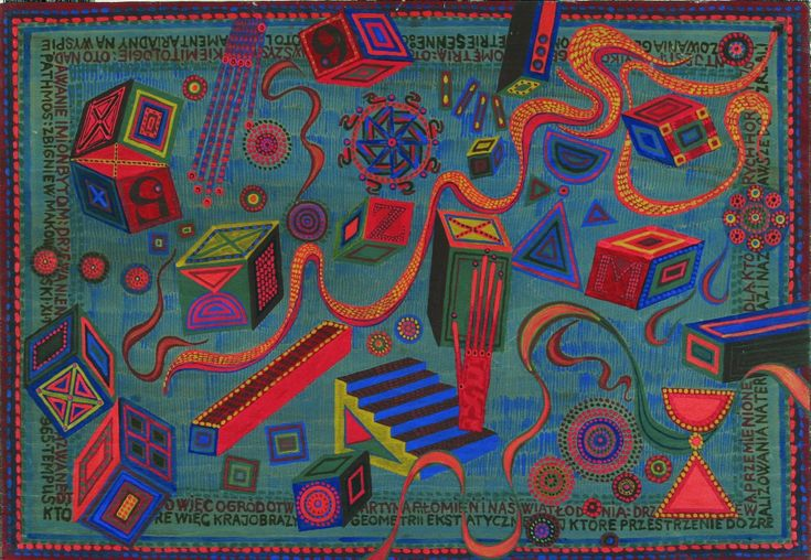 Zbigniew Makowski  Lament Ariadny na wyspie Pathos 1965 tempera, deska 39x57 cm w zbiorach Muzeum Narodowego we Wrocławiu fot. pracownia fotograficzna MNWr