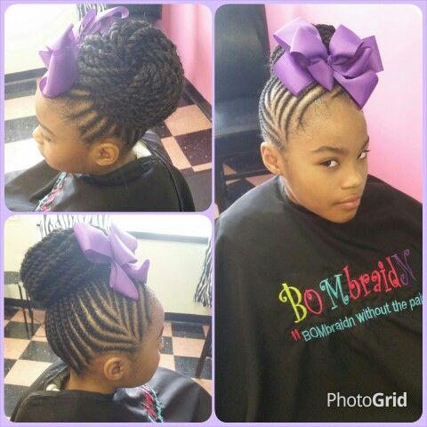 Enjoyable 1000 Images About Natural Kids Cornrow Buns On Pinterest Short Hairstyles For Black Women Fulllsitofus
