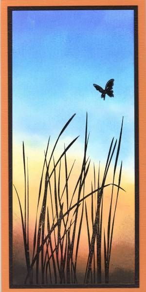 Sunset Butterfly by stampandshout - Cards and Paper Crafts at Splitcoaststampers a la M. Zindorf