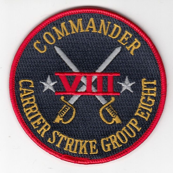 CARRIER STRIKE GROUP EIGHT COMMAND CHEST PATCH