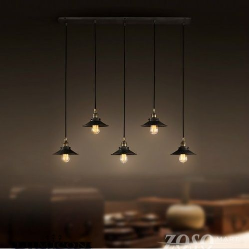 5 Drop Light Industrial Chandelier-This Is An Amazing
