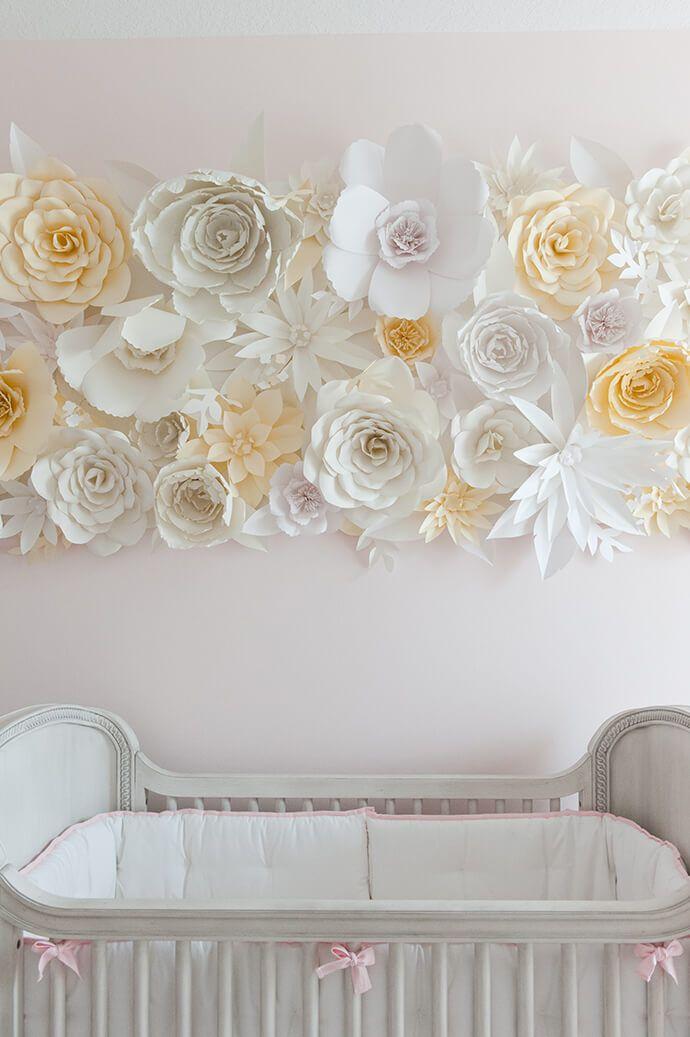 Paper flower installation