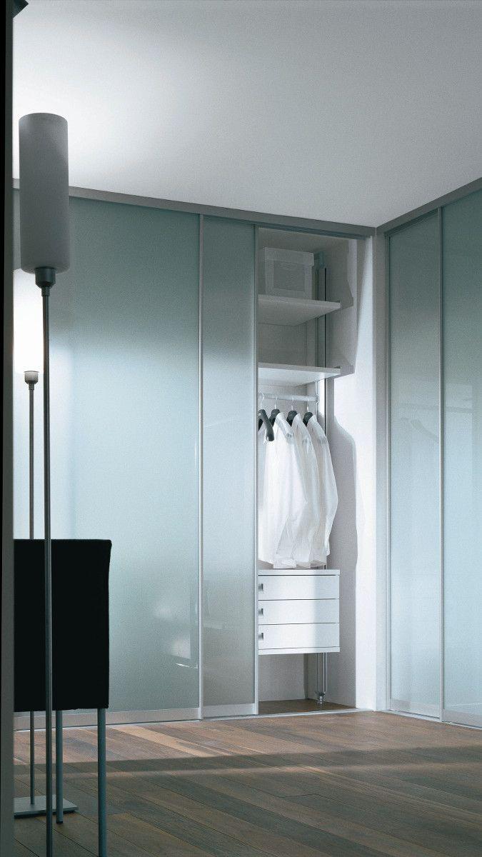 Kleiderschrank Mit Glasschiebetur Aus Milchglas Massanfertigung