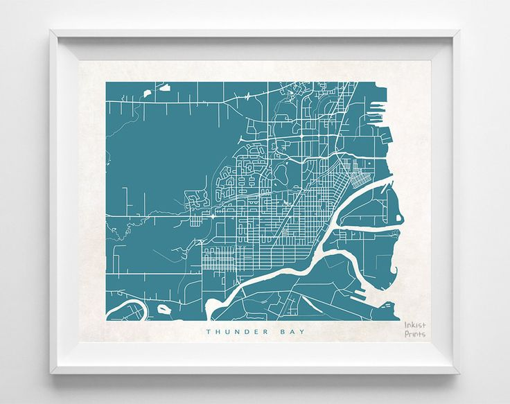 24 best canada street map prints images on pinterest art decor thunder bay street map print gumiabroncs Image collections