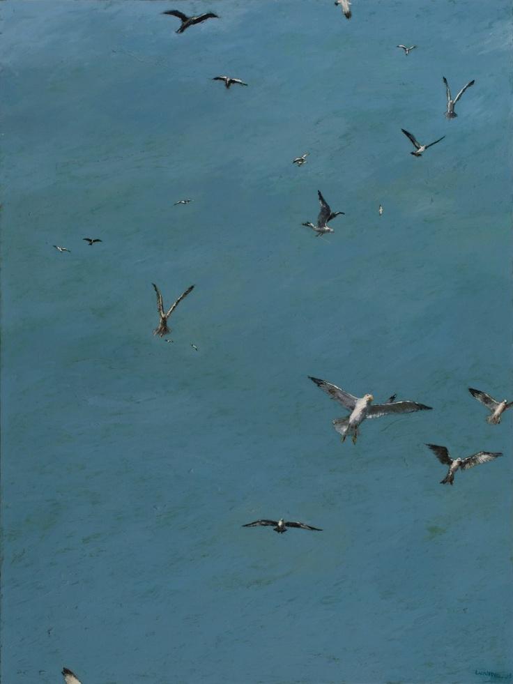 Luan Nel / Gulls / oil on canvas / 104 x 75 cm