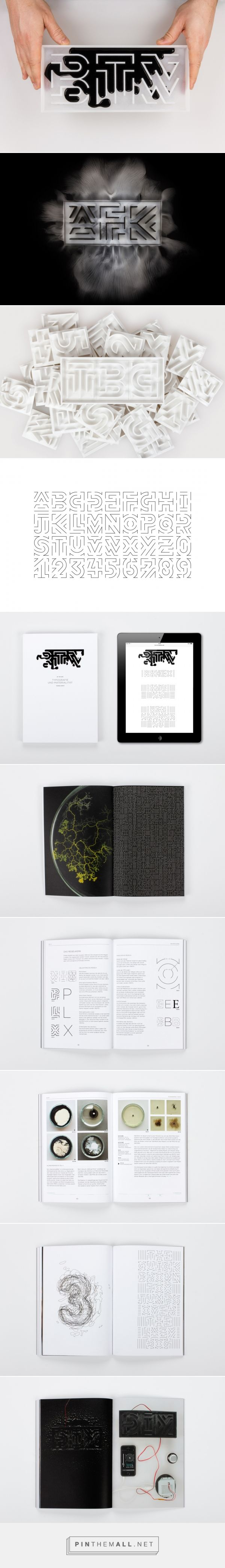 By the way – typography and material behavior by Thomas Wirtz