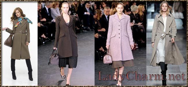 Распашные пальто с поясом для женщин