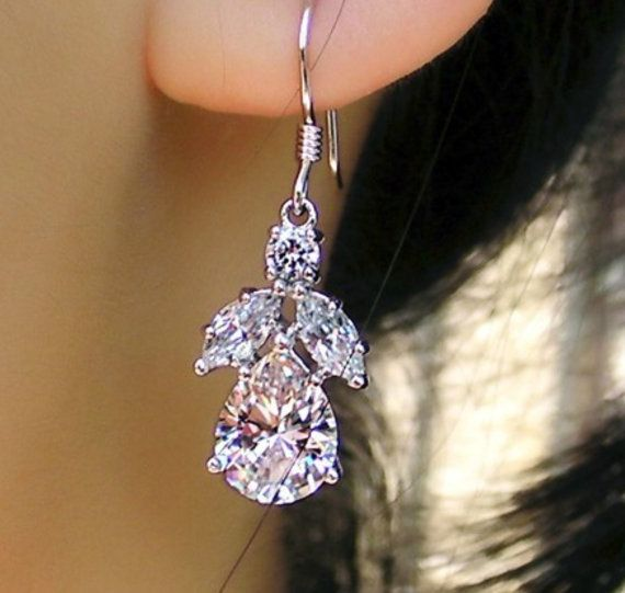 Check out this item in my Etsy shop https://www.etsy.com/au/listing/463260913/bridal-wedding-earringssterling-silver