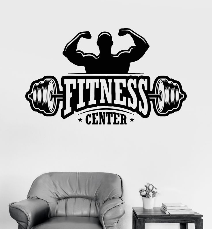 Vinyl Wall Decal Fitness Center Gym Bodybuilding Sports ...
