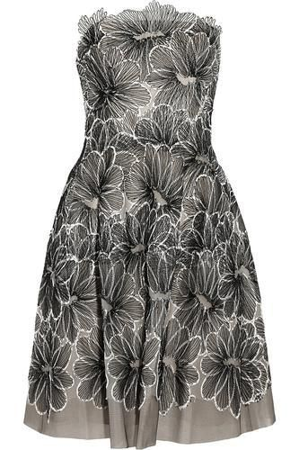 If only  Floral-embroidered tulle dress #embroideddress #women #covetme #lelarose
