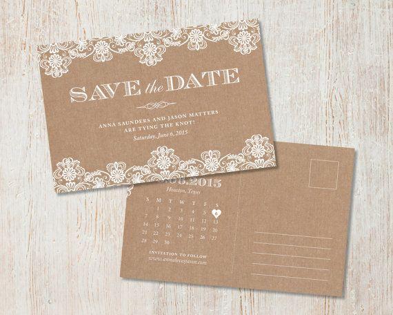Rustikale Hochzeit Datum Sackleinen und von PaperRouteCollective