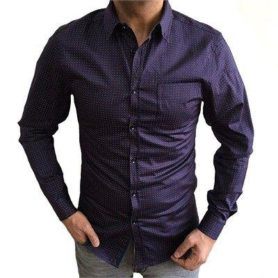 Erkek fit kesim pamuklu spor eflatun gömlek modellerini en ucuz fiyatlarıyla kapıda ödeme ve taksit ile Outlet Çarşım'dan satın al.