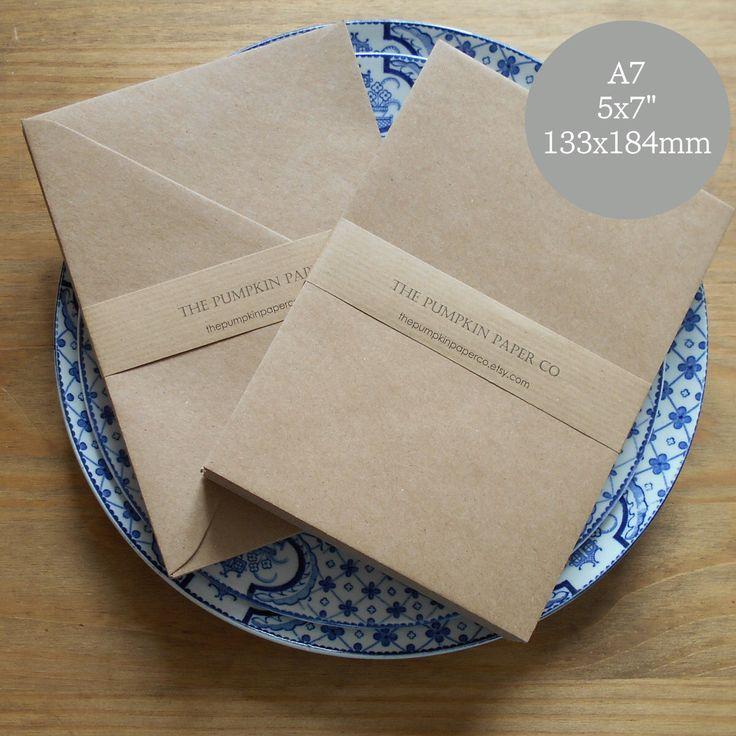100 5x7 Kraft Envelopes A7 Envelopes Envelopes Bulk Rustic Envelopes For Wedding  Invitations Card Supplies True