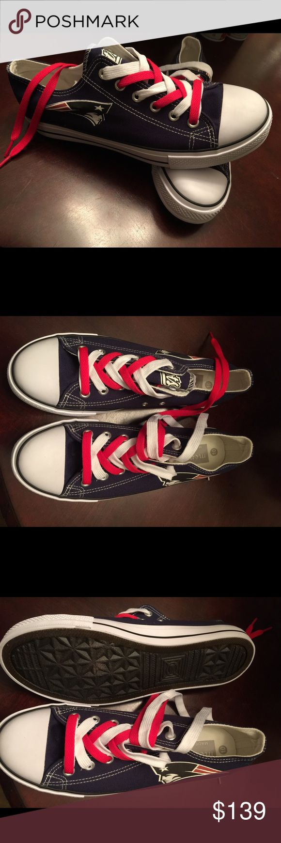 Selling this AUTH NEW ENGLAND PATRIOTS SNEAKERS on Poshmark! My username is: hipster2014. #shopmycloset #poshmark #fashion #shopping #style #forsale #Shoes