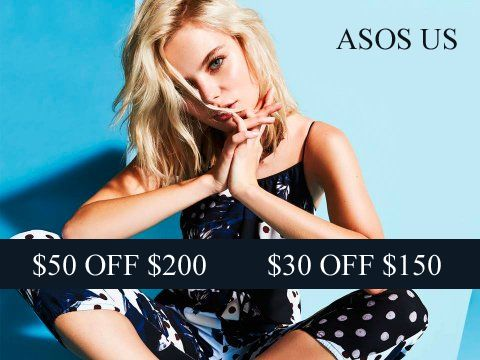 2 new promo codes for ASOS US: DROP30 & DROP50. Min purchase required. Valid on US orders only.