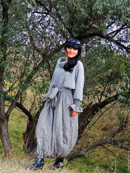 Зимнее БОХО платье (№195)
