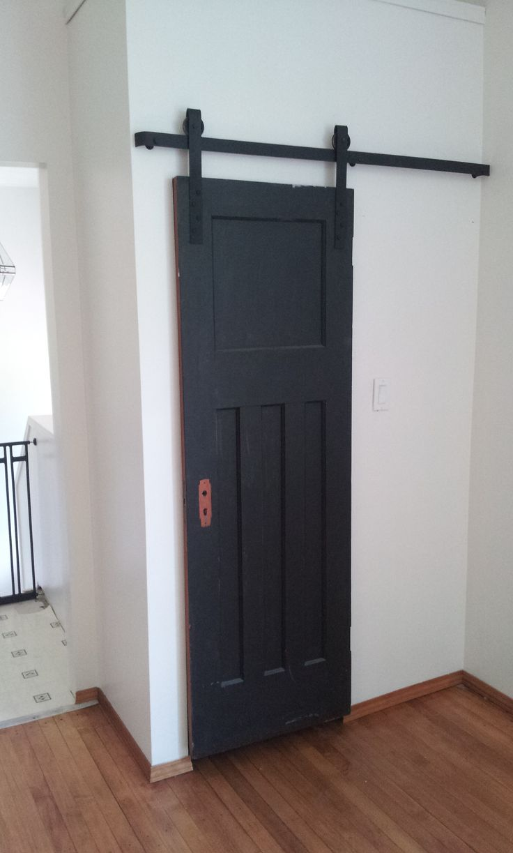 Barn door slider for closet.