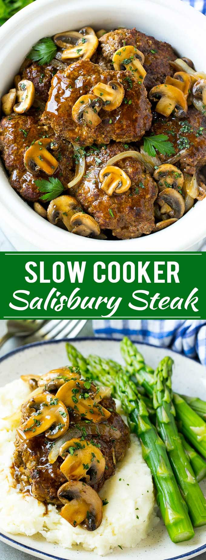 Slow Cooker Salisbury Steak Recipe | Homemade Salisbury Steak | Salisbury Steak from Scratch #ad @McCormickSpice