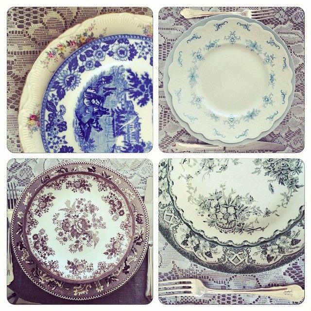 #mix #vintage #borddekking #table setting