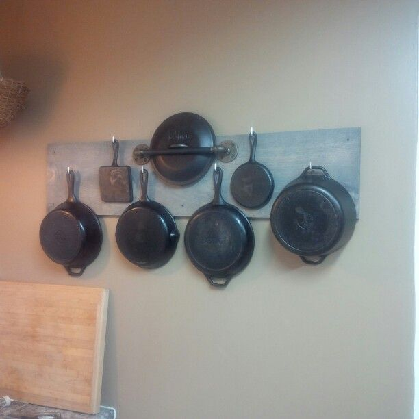 My cast iron cookware display! And I love cooking with it?