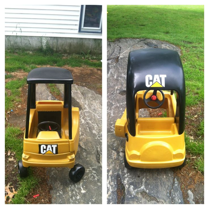 Cozy coupe makeover- My child will have one of these! With a JTC sticker, of course! ;)