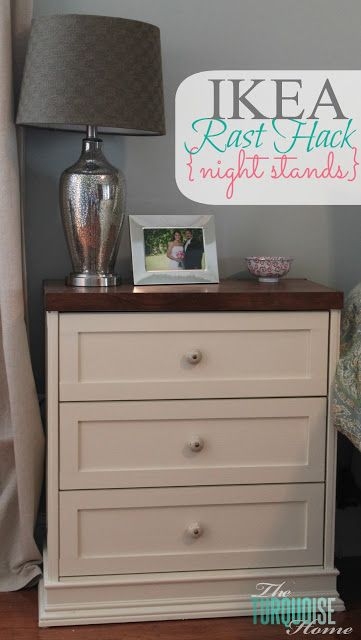 You will NOT believe the before picture. LOVE this Ikea Rast Hack from TheTurquoiseHome.com