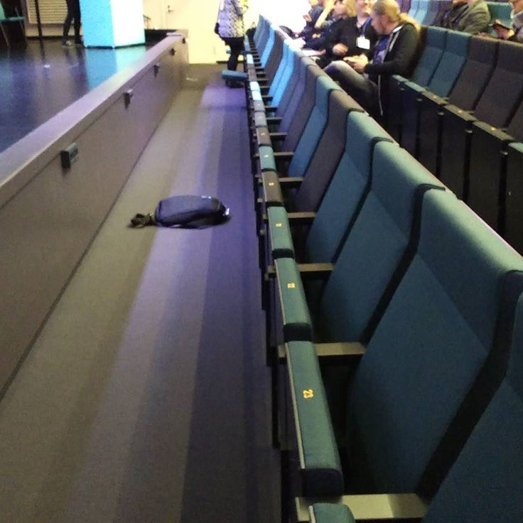 Pro tip for attending conferences - sit in the front row. - spare seats - lots of legroom - easy to get in and out  #protip #techconference #softwaretesting #softwaretester