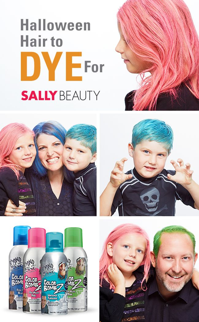 Get Halloween #HairtoDyeFor with wash-out color from Sally Beauty.