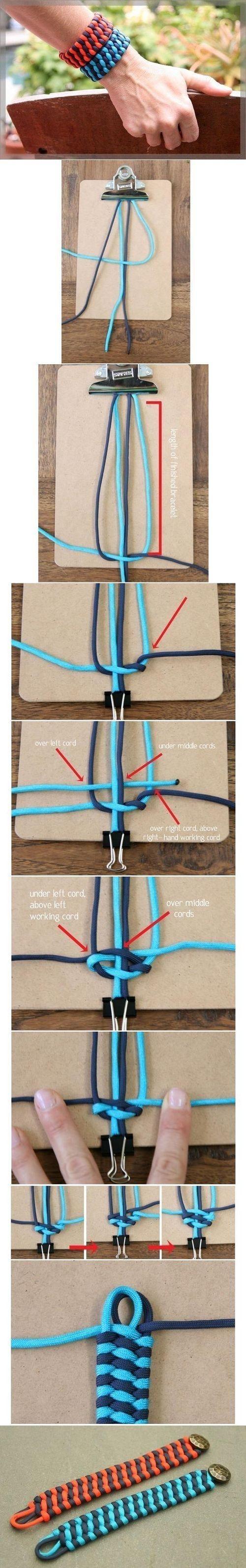 DIY Unique Weave Bracelet