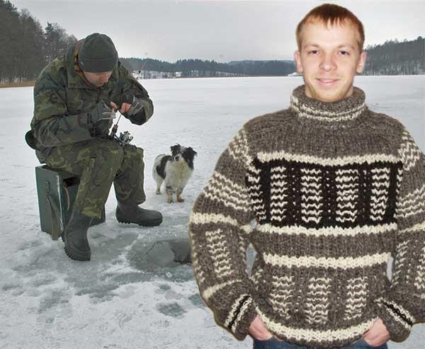 Толстый свитер для рыбалки