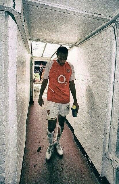 Thierry Henry after putting Liverpool to the sword 04/05. 0-1 down to 3-1 up. Super TT to the rescue. #invincibles.