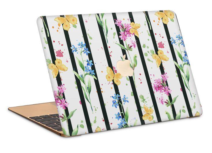 Butterfly Stripes Macbook Case by NJsBoutiqueCo on Etsy