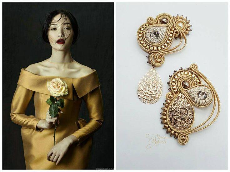 185 отметок «Нравится», 4 комментариев — Simona Rotaris (@simona_rotaris) в Instagram: «Golden age Available #simonarotaris #beadwork #simonarotaris #soutache #handmadejewelry #earrings…»