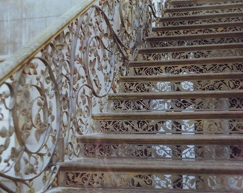 Intricate wrought iron stairs.....beautiful: Decor, Stairs, Details, Architecture Interiors, Beautiful, White Lace, Wrought Irons, Stairways, Fairies Tales
